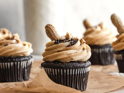 Chocolate Peanut Butter Cupcakes (Gluten Free, Dairy Free)