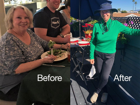 Before & After - One woman's powerful transformation during COVID