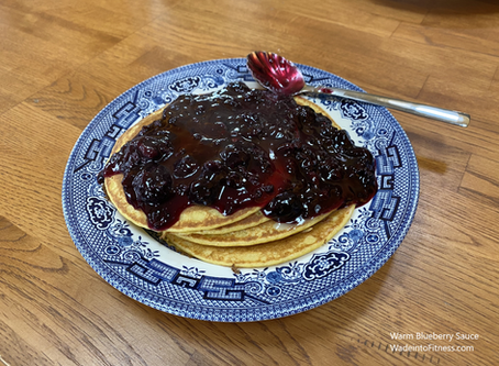 Quick Warm Blueberry Sauce