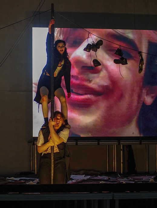 Mariam Avaliani, Lukas Haas in Nomos Fustus, Regie: Dávid Paška © Julius Leon Seiler