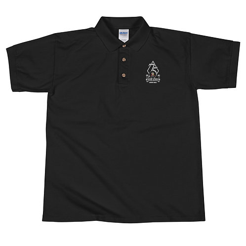 Embroidered Polo Shirt (Black)