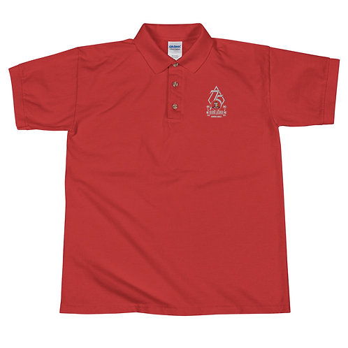 Embroidered Polo Shirt- Red