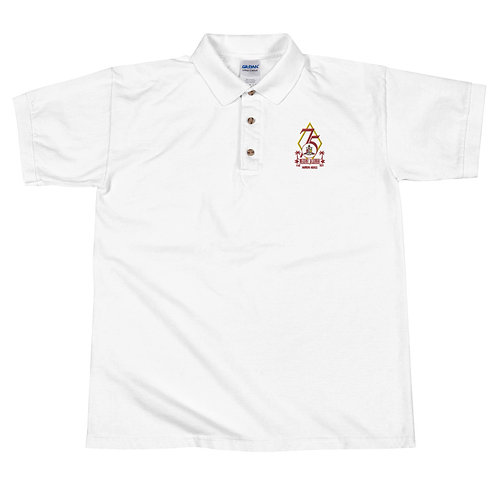 Embroidered Polo Shirt (White)
