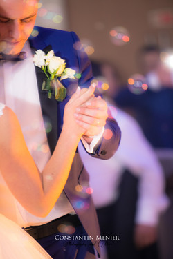 holding hands for the first dance