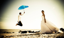 fly by, wedding on the beach