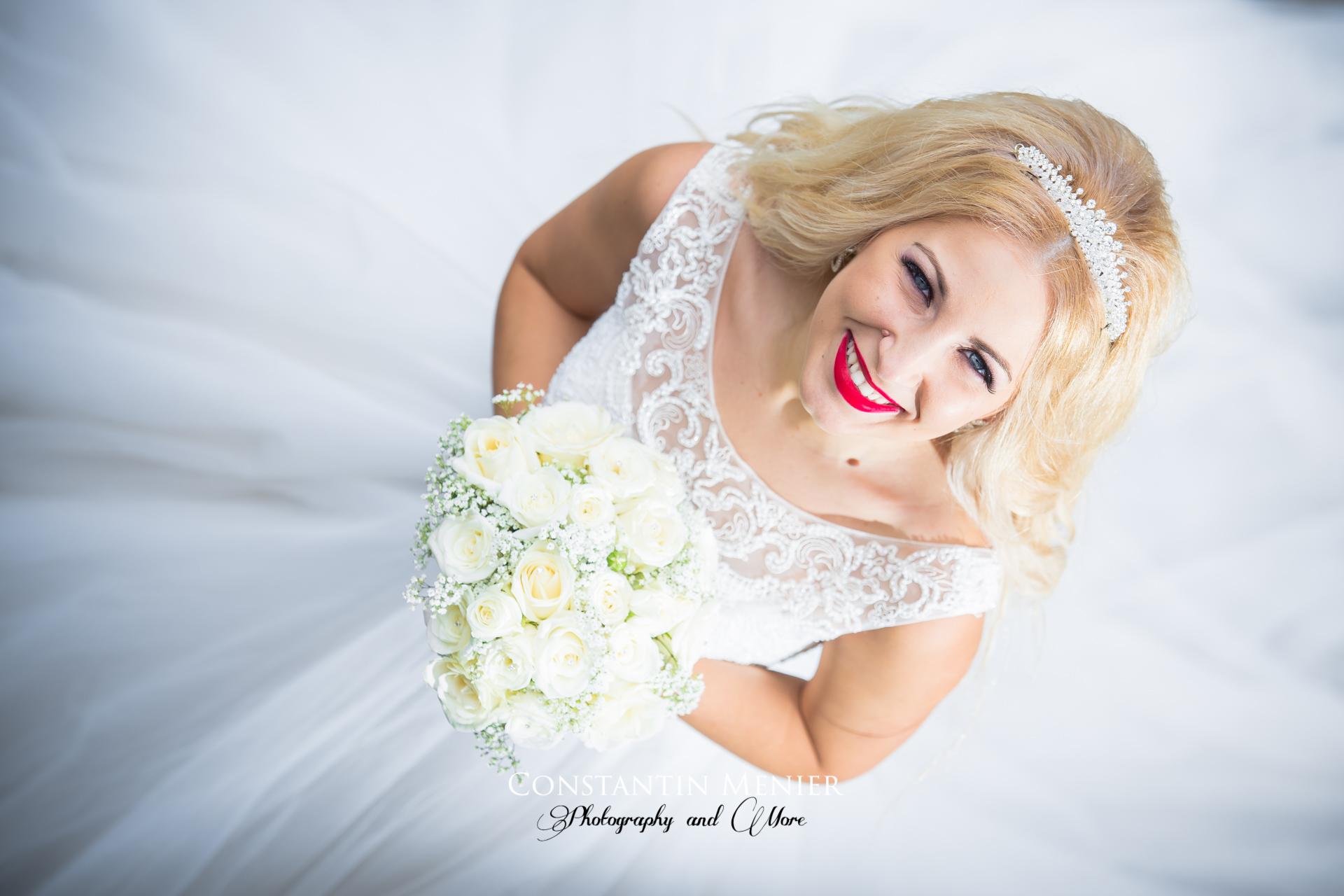Bride Looking Up