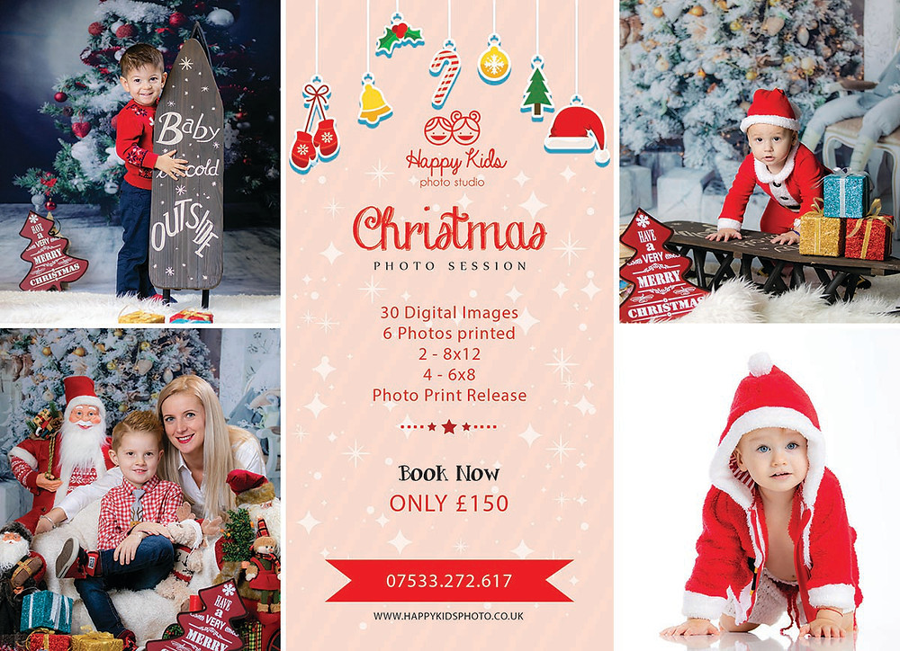 Christmas Photo Session Offer at Happy Kids Photo Studio