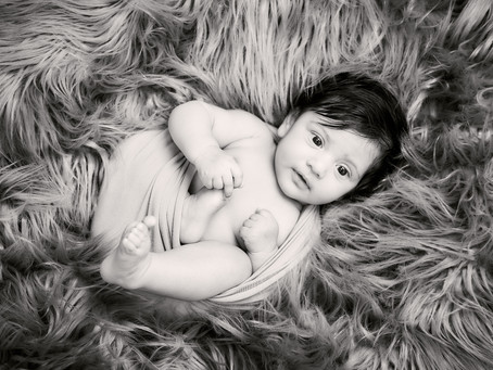 Day 4 - Black and White Newborn Photography