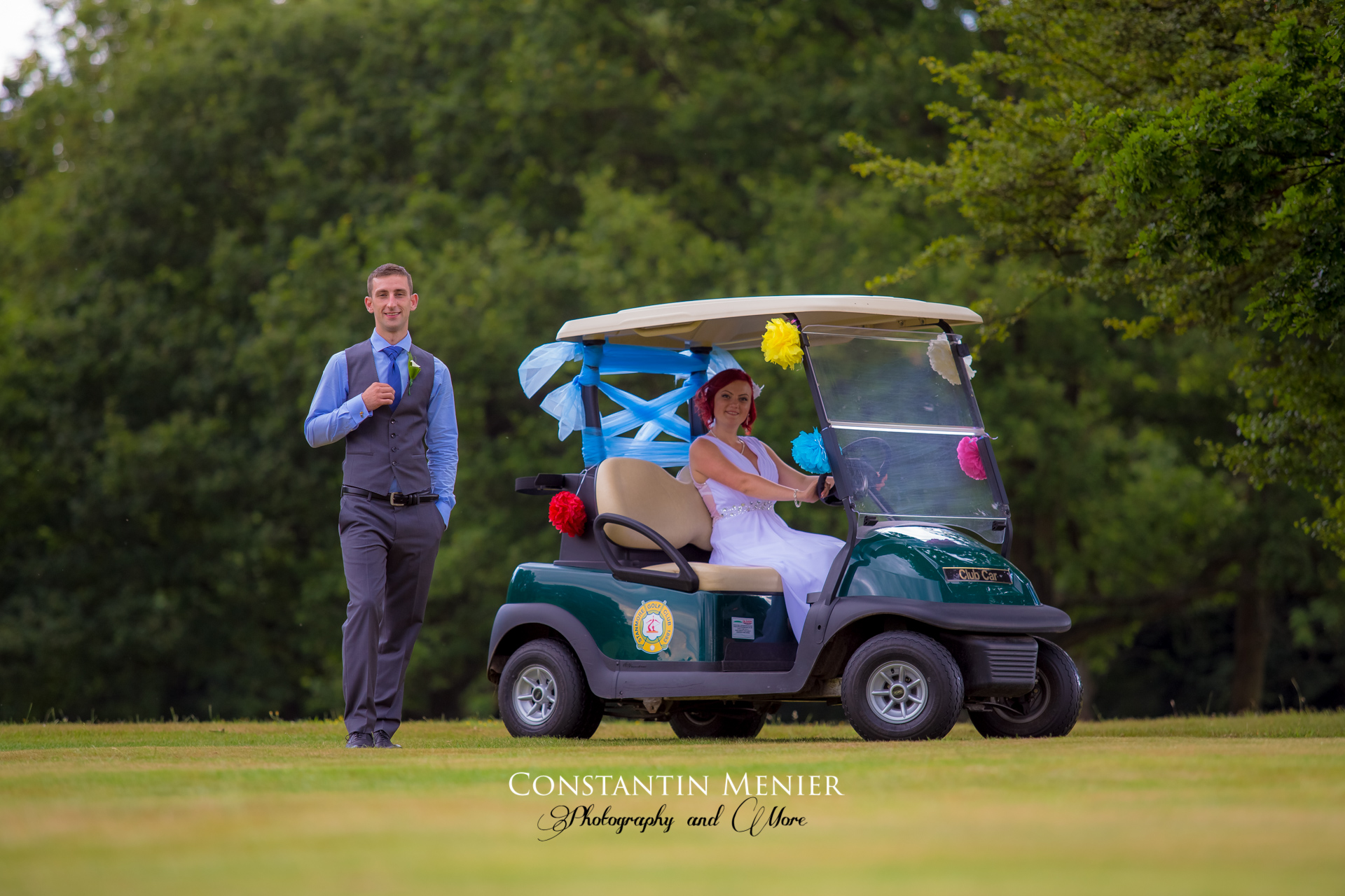 Wedding on the golf course, Stanmore