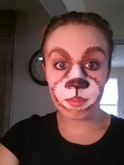 """Shrek"" 3 Bears Makeup"