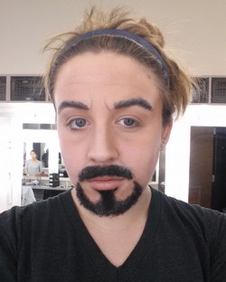 Tony Stark facial hair project