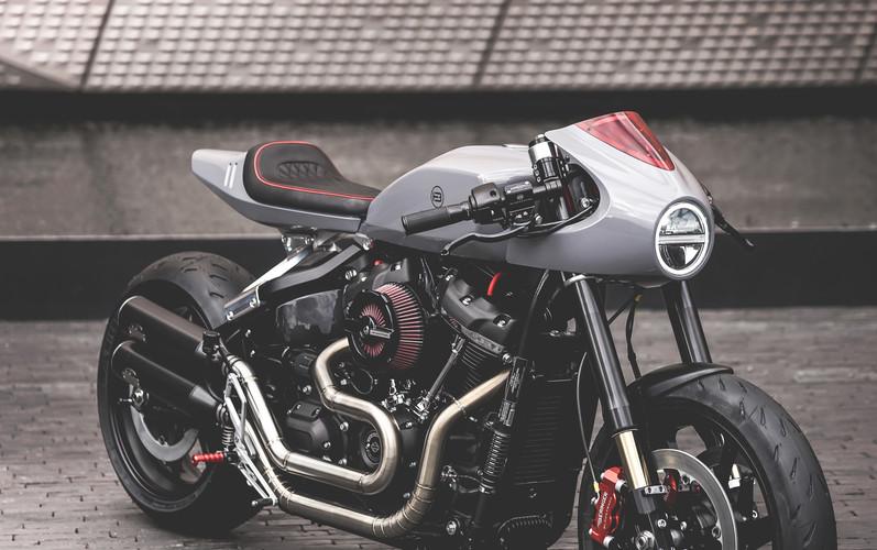 Cafe Racer BT03 - based on a Harley-Davidson Softail Fat Bob 114
