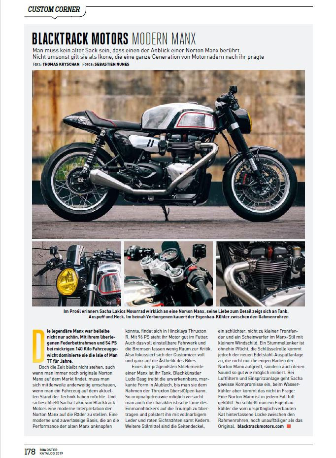 excerpt from Roadster magazine featuring BT02