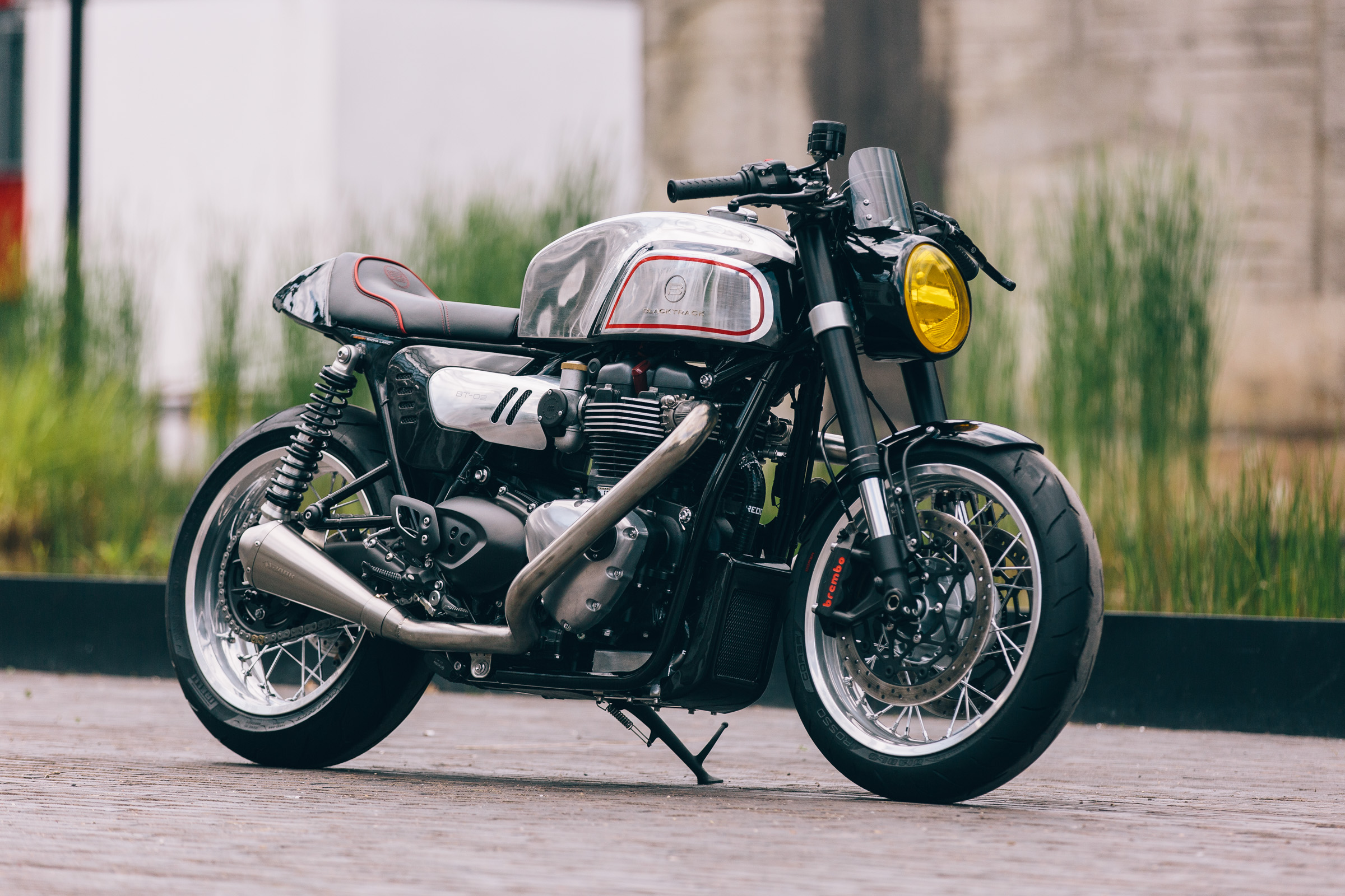 Blacktrack cafe racer BT02 THRUXMAN based on Triumph Thruxton