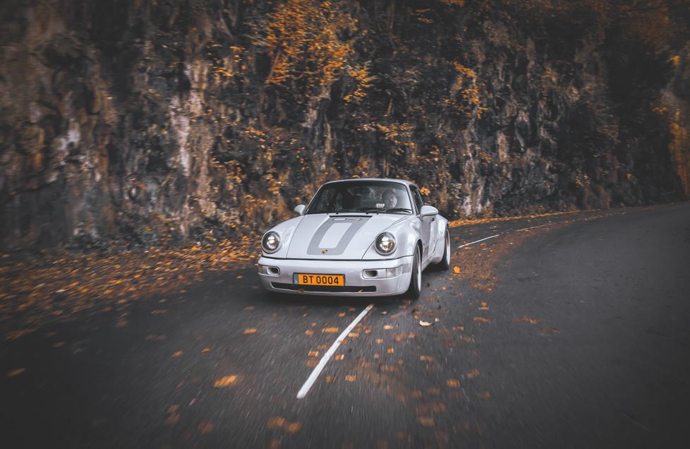 Restomod car BT04 in the Alps (France)