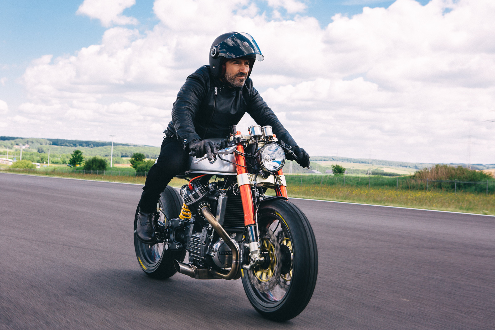 Sacha Lakic on the Cafe Racer BT01