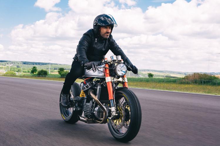 Sacha Lakic on the Cafe Racer BT01