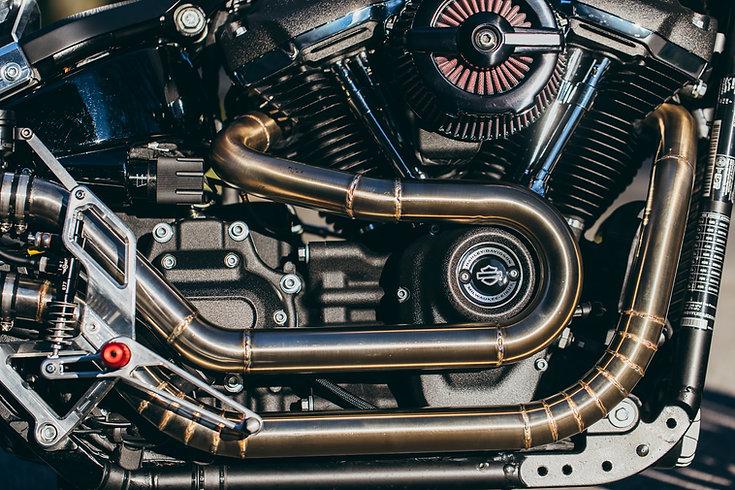 Exhaust cafe racer BT03 Harley-Davidson