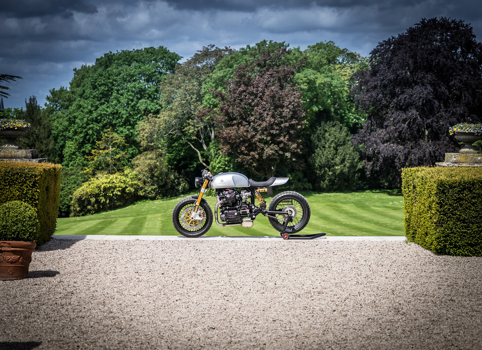 Cafe racer BT01 based on a Honda CX500 in Les Crayeres (France)