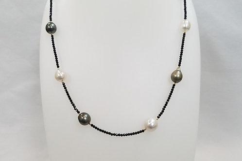 南洋真珠/タヒチ真珠/スピネル/K18ミラーボール 75㎝