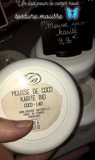 MOUSSE DE COCO (LAIT POUR LE CORPS TEXTURE MOUSSE)