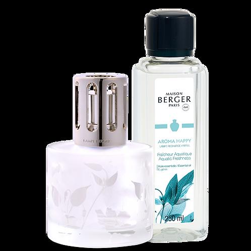 Coffret Lampe + Parfum Aroma happy