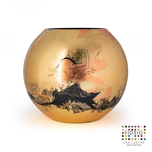 "Vase FIDRIO ""Golden art"" peint à la main"