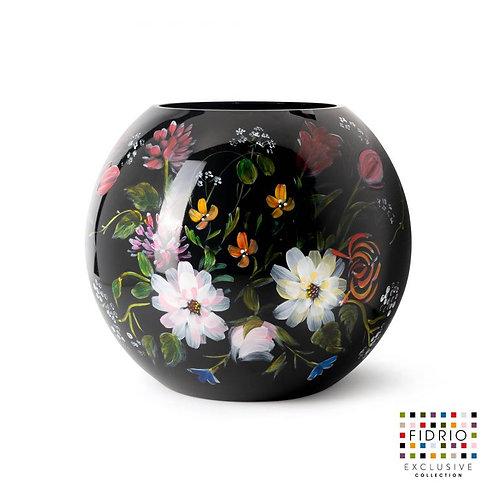 """Vase FIDRIO """"Royal Flowers"""" Peint à la main"""