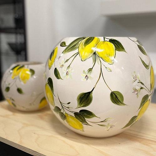 """Vase FIDRIO """"Lemon"""" peint à la main"""