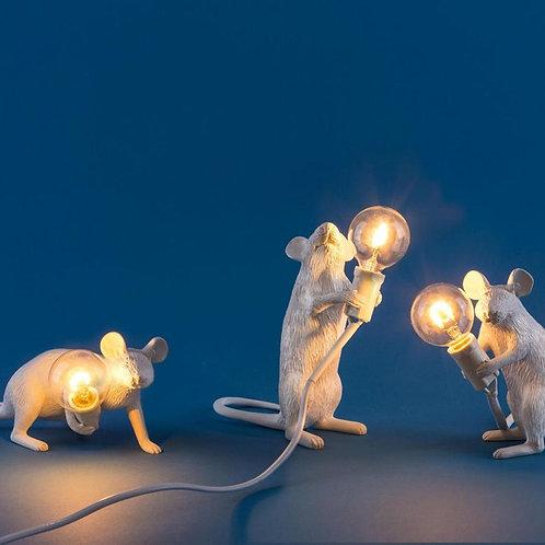 Mouse Lamp White SELETTI