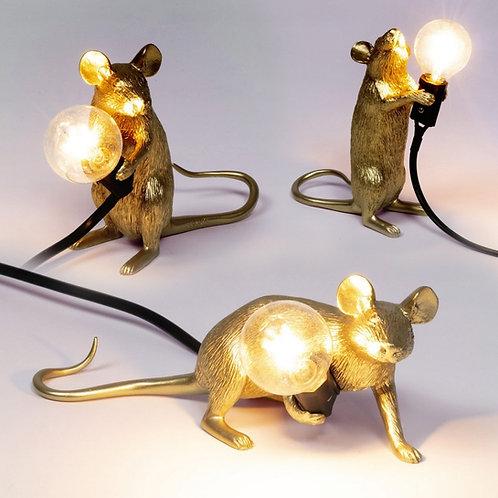 Mouse Lamp Gold SELETTI