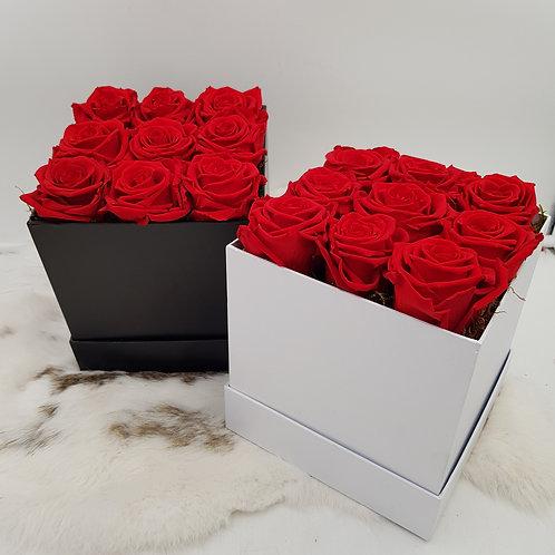 Boîte de roses immortelles