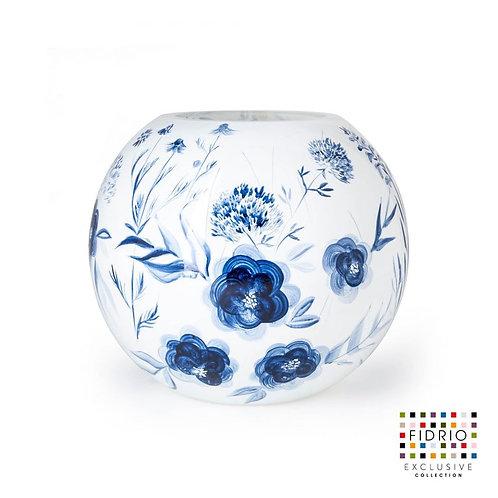"""Vase FIDRIO """"Dutch Blue"""" peint à la main"""