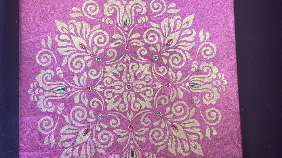 Purple Rangoli Gift Box