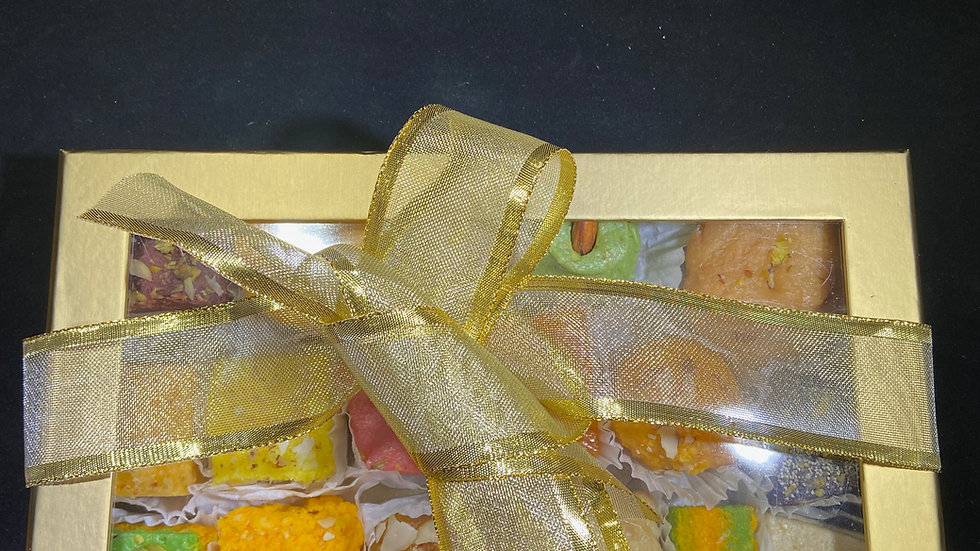 Golden Open Window Gift Box