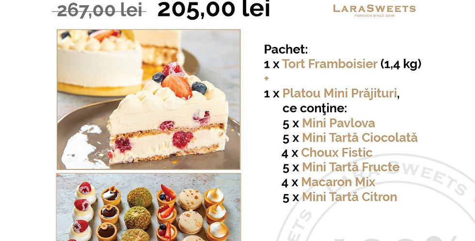 Pachet Cake & Mini-Prajituri