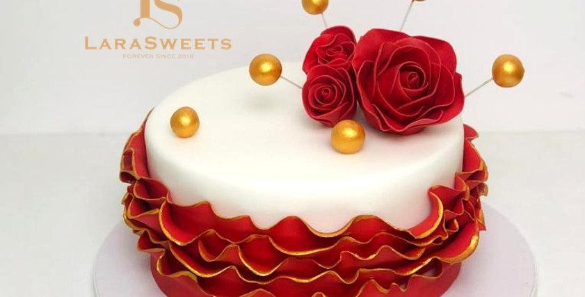 Tort Red Rose