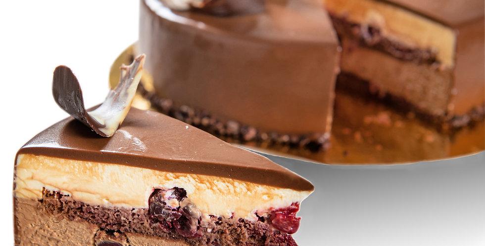 Tort Duo Mousse cu Visine
