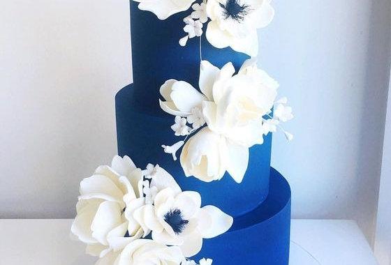 Tort Nunta Albastru Regal