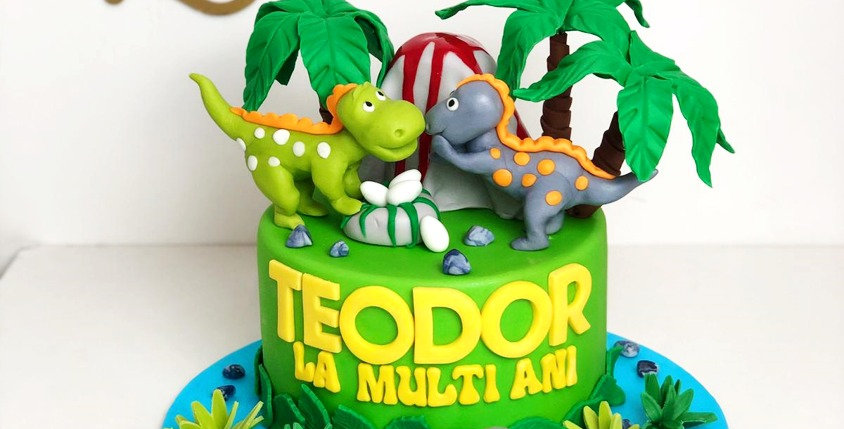 Tort Figurine Dinozauri