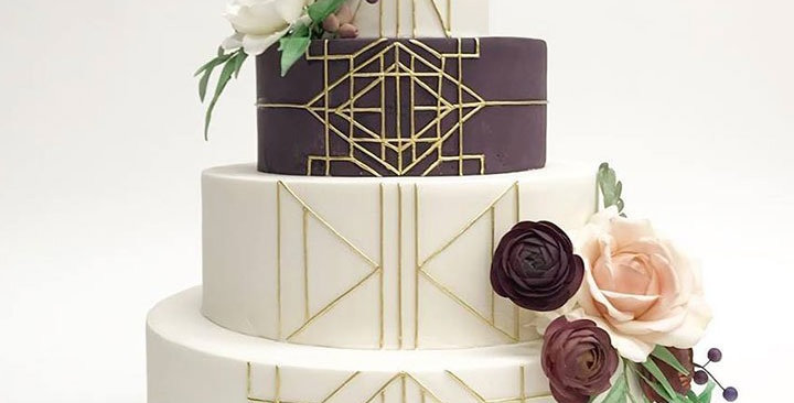 Tort Flower Art Deco