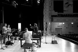 Rehearsal at Northern Lights Music Festival, Northern Minnesota, 2016