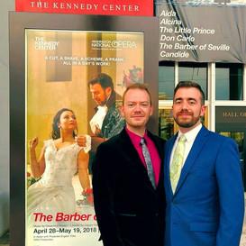 Opening Night, Assistant Conductor for Washington National Opera's Il barbiere di siviglia, April 2018