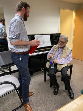 Backstage with pianist Leon Fleisher, Maryland Lyric Opera, November 2019
