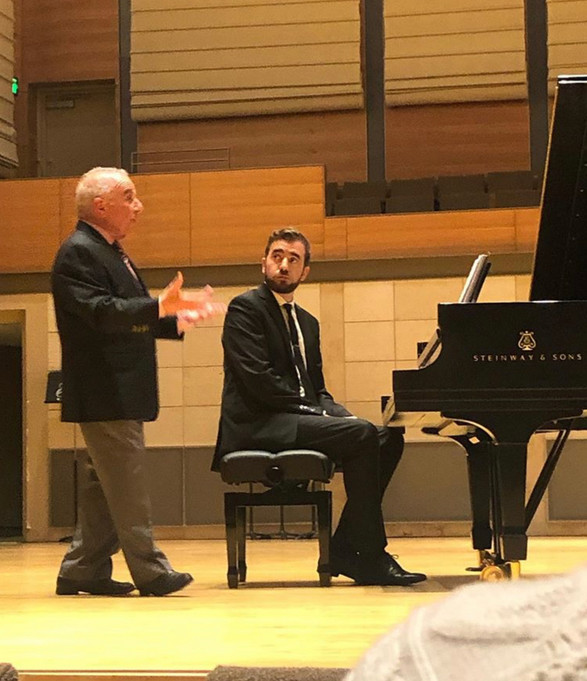 Working with Martin Katz, Merola Opera Program, 2019.