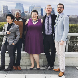 With Friends and Colleagues at the Washington National Opera's American Opera Initiative Premiere of Missy Mazzoli's Proving Up, January 2018