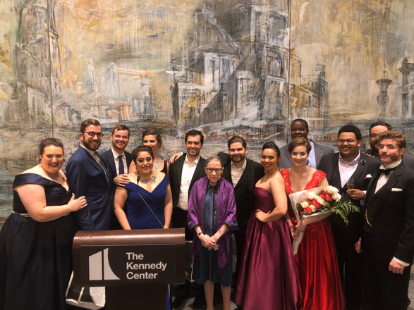 Washington National Opera Cafritz Young Artists with Supreme Court Justice Ruth Bader Ginsburg, 2018