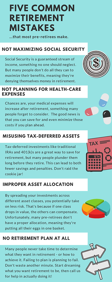 2019 6M Five Retirement Mistakes Infogra