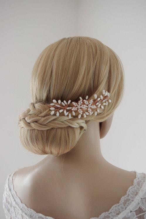 Brautschmuck-Haarranke-kupfer,gold oder silber