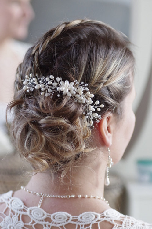 Braut Haarschmuck-Haarranke-Perlen-Swarowski Bicon